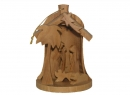 #10021 Olive Wood Christmass Bell Grotto