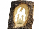 #10029 Olive Wood Nativity In Bark View