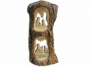 #10030 Olive Wood Nativity In Bark View