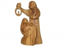 #20010 Olive Wood Holy Family with Lantern