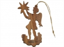 #50022 Olive Wood Angel Ornament
