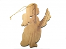 #50033A Olive Wood Angel Ornament