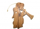 #50035 Olive Wood Angel Ornament
