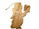#50036 Olive Wood Angel Ornament