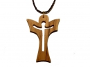 #55007 Olive Wood Cross Pendant