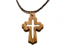 #55010 Olive Wood Cross Pendant