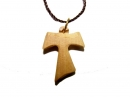 #55020 Olive Wood The Franciscan Cross Pendant