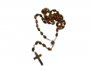#80001 Olive wood Plain Oval Beads Rosary