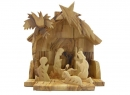 #10001 Olive Wood Nativity Set With Grotto