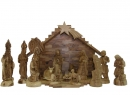 #10006 Olive Wood Crown Nativity Set With Grotto