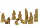 #10012 Olive Wood Traditional Nativity Set