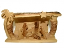 #10023 Olive Wood Simple Nativity Set Inside Cave
