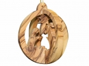 #10024 Olive Wood Round 3D Ornament