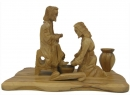 #30008 Olive Wood Jesus Washing The Feet Of Peter