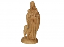 #30028 Olive Wood Jesus The Good Shephered Sculpter