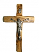 #40006 Olive Wood Cross With Crucifix