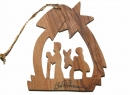 #50001 Olive Wood Flight To Eygpt Ornament