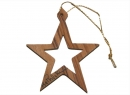 #50014 Olive Wood Star Of Bethlehem Ornament