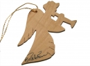 #50024 Olive Wood Angel Ornament