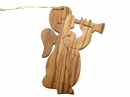 #50037 Olive Wood Angel Ornament
