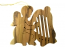 #50040 Olive Wood Angel Ornament