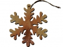 #50048 Olive Wood Snow Ornament
