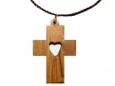 #55005 Olive Wood Cross Pendant