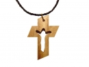 #55006 Olive Wood Cross Pendant