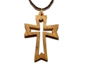 #55008 Olive Wood Cross Pendant