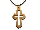 #55009 Olive Wood Cross Pendant