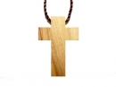 #55011 Olive Wood Cross Pendant