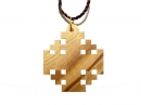 #55013 Olive Wood The Jerusalem Cross Pendant