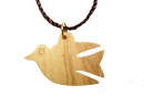 #55016 Olive Wood Dove Pendant