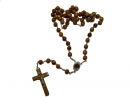 #80002 Olive Wood Plain Round Beads Rosary