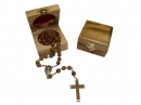 #80006 Olive Wood Box Containg a Rosary