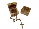 #80007 Olive Wood Box Containing a Rosary