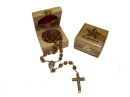 #80008 Olive Wood Box Containg a Rosary