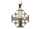 #90001 Silver Jeruslam Cross Pendant