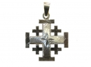 #90002 Silver Jerusalem Cross Pendant