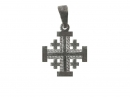 #90003 Silver Jerusalem Cross Pendant