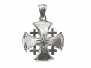#90005 Silver Jerusalem Cross Pendant