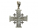 #90004 Silver Jerusalem Cross Pendant